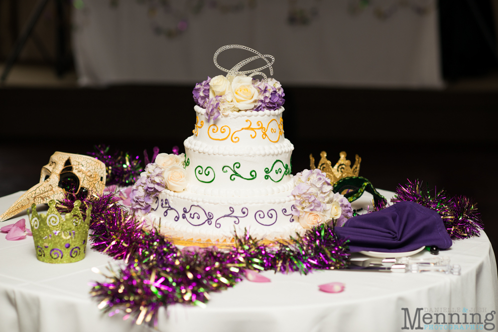 New Orleans Themed Wedding Cake