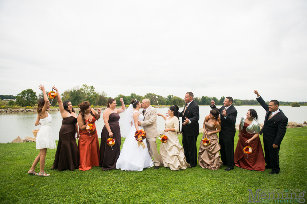 Fall colors for bridal party