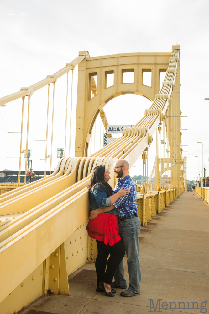 Richelle & Ryan - Downtown Pittsburgh - Roberto Clemente Bridge - PNC Park - North Shore - Heinz Pickle - Pittsburgh Engagement Session - Youngstown OH Photographers_0010