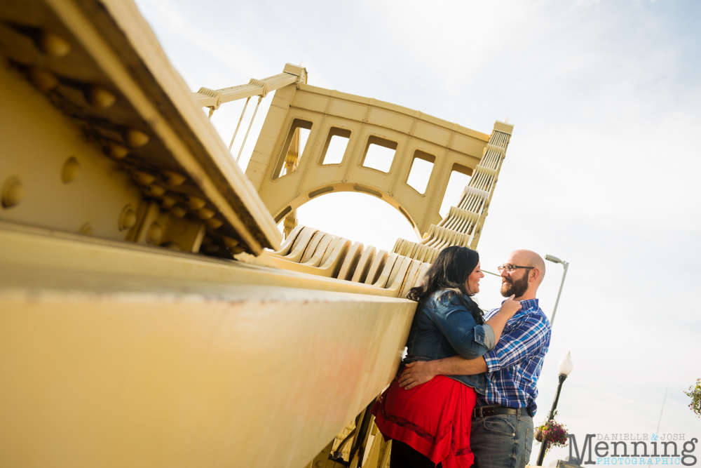 Richelle & Ryan - Downtown Pittsburgh - Roberto Clemente Bridge - PNC Park - North Shore - Heinz Pickle - Pittsburgh Engagement Session - Youngstown OH Photographers_0011
