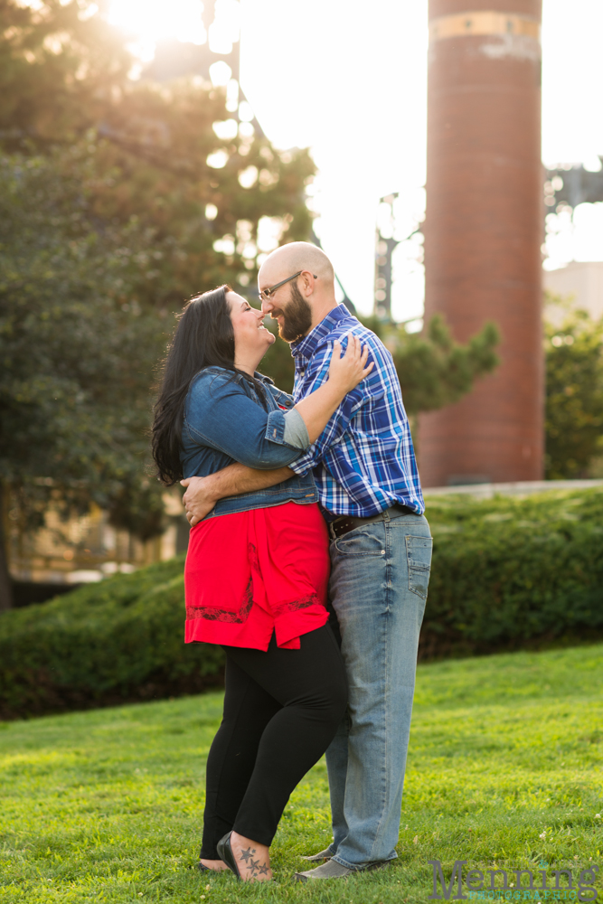 Richelle & Ryan - Downtown Pittsburgh - Roberto Clemente Bridge - PNC Park - North Shore - Heinz Pickle - Pittsburgh Engagement Session - Youngstown OH Photographers_0017
