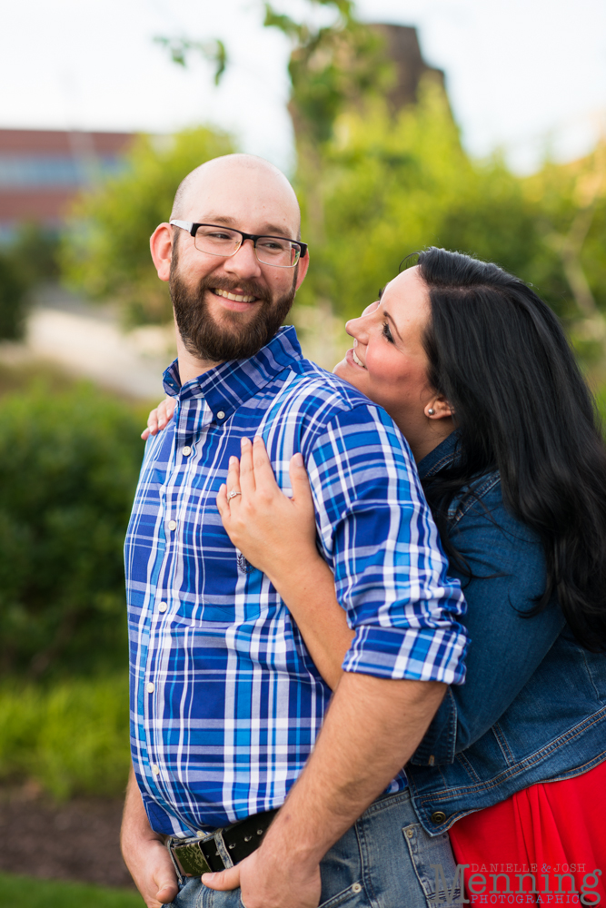 Richelle & Ryan - Downtown Pittsburgh - Roberto Clemente Bridge - PNC Park - North Shore - Heinz Pickle - Pittsburgh Engagement Session - Youngstown OH Photographers_0018