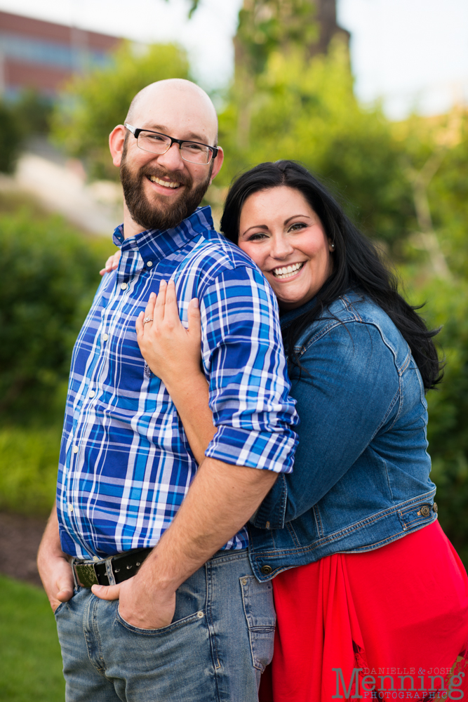 Richelle & Ryan - Downtown Pittsburgh - Roberto Clemente Bridge - PNC Park - North Shore - Heinz Pickle - Pittsburgh Engagement Session - Youngstown OH Photographers_0019
