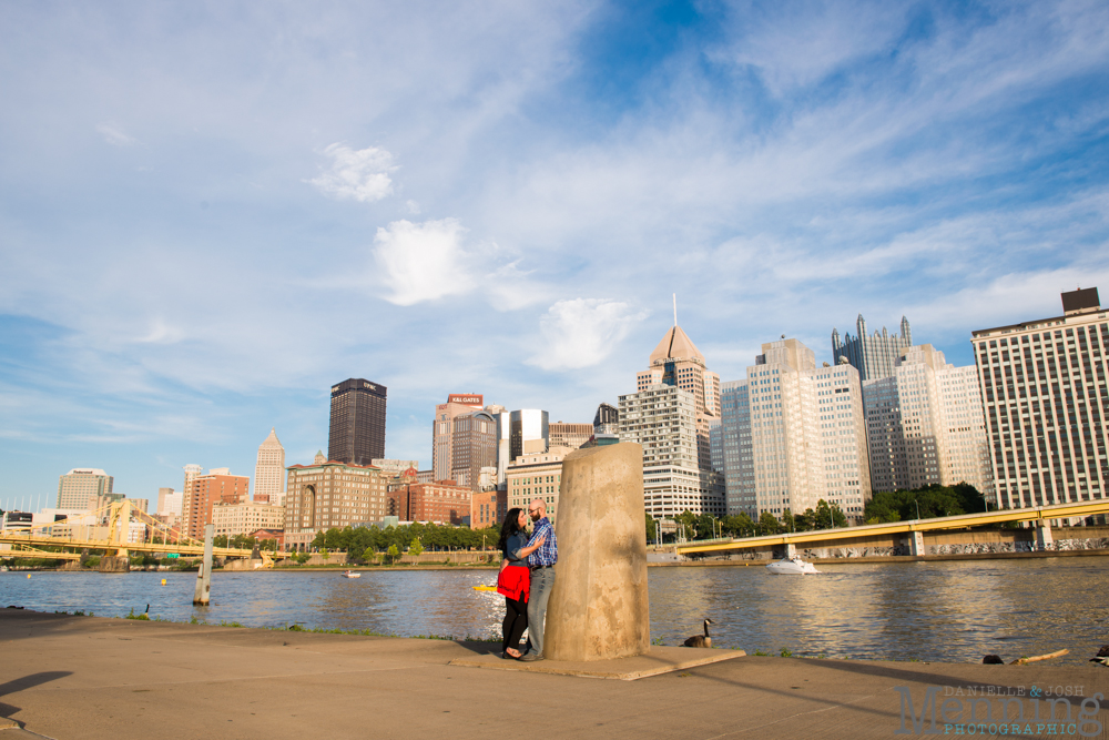 Richelle & Ryan - Downtown Pittsburgh - Roberto Clemente Bridge - PNC Park - North Shore - Heinz Pickle - Pittsburgh Engagement Session - Youngstown OH Photographers_0025