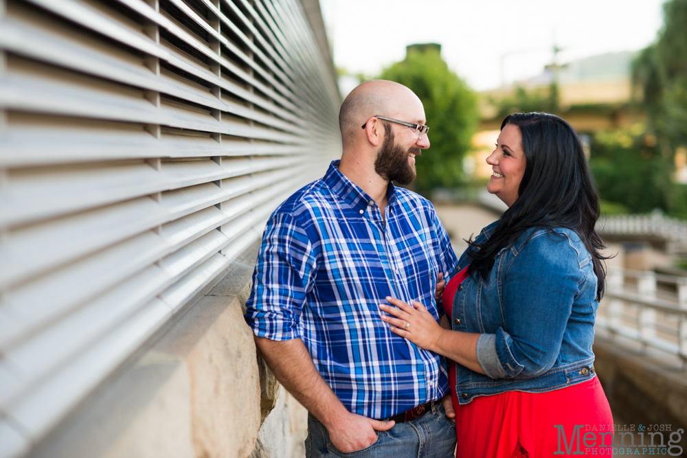 Richelle & Ryan - Downtown Pittsburgh - Roberto Clemente Bridge - PNC Park - North Shore - Heinz Pickle - Pittsburgh Engagement Session - Youngstown OH Photographers_0029