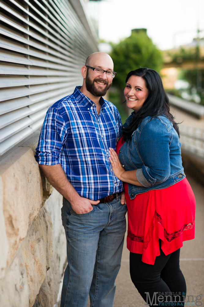 Richelle & Ryan - Downtown Pittsburgh - Roberto Clemente Bridge - PNC Park - North Shore - Heinz Pickle - Pittsburgh Engagement Session - Youngstown OH Photographers_0030