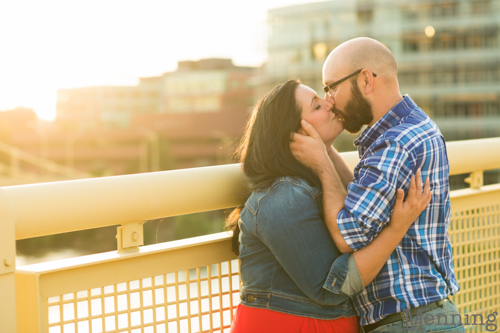 Richelle & Ryan - Downtown Pittsburgh - Roberto Clemente Bridge - PNC Park - North Shore - Heinz Pickle - Pittsburgh Engagement Session - Youngstown OH Photographers_0039
