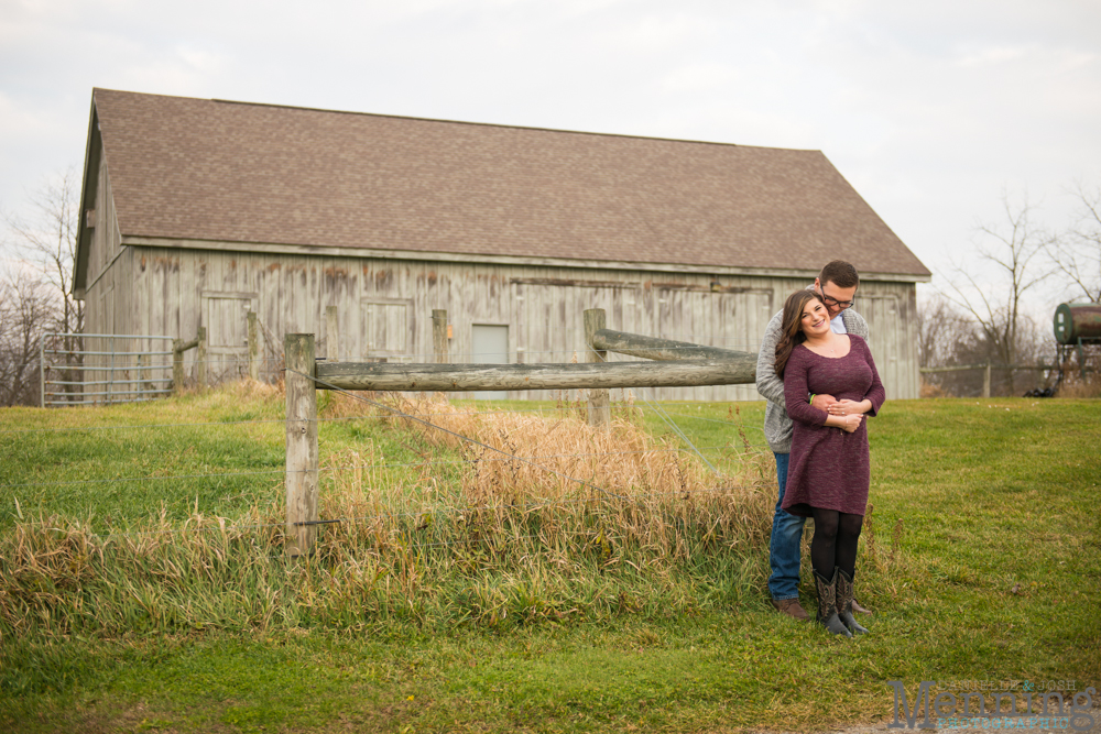 old barn in engagement photos