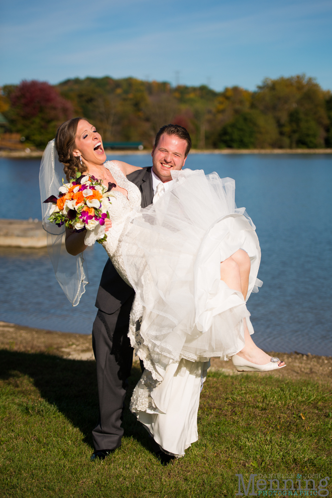 Ellen & Michael Wedding - The Gathering Place at Darlington Lake - Fall Wedding Photos - Youngstown, Ohio Wedding Photographers_0070