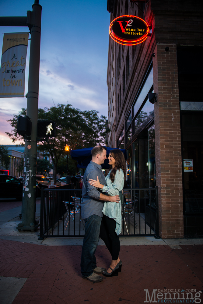 engagement photos in downtown Youngstown