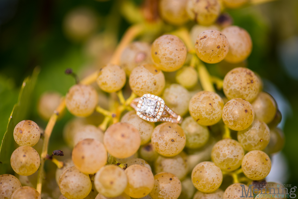 engagement ring with grapes
