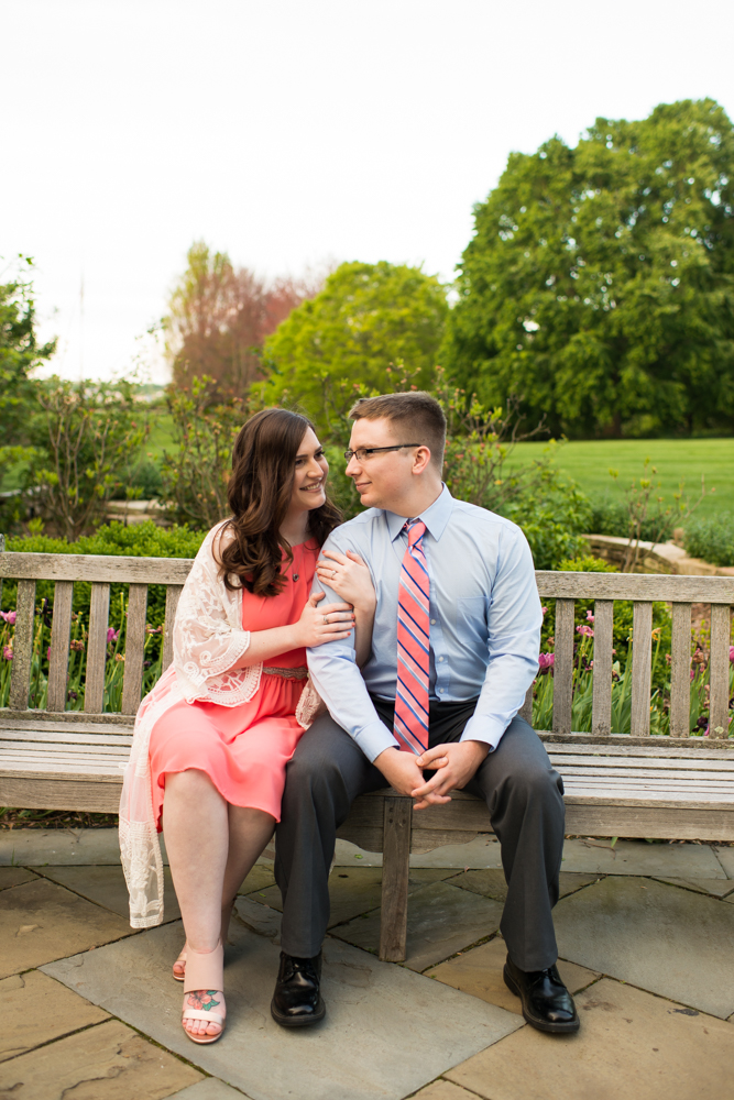Youngstown engagement photos in Mill Creek Park