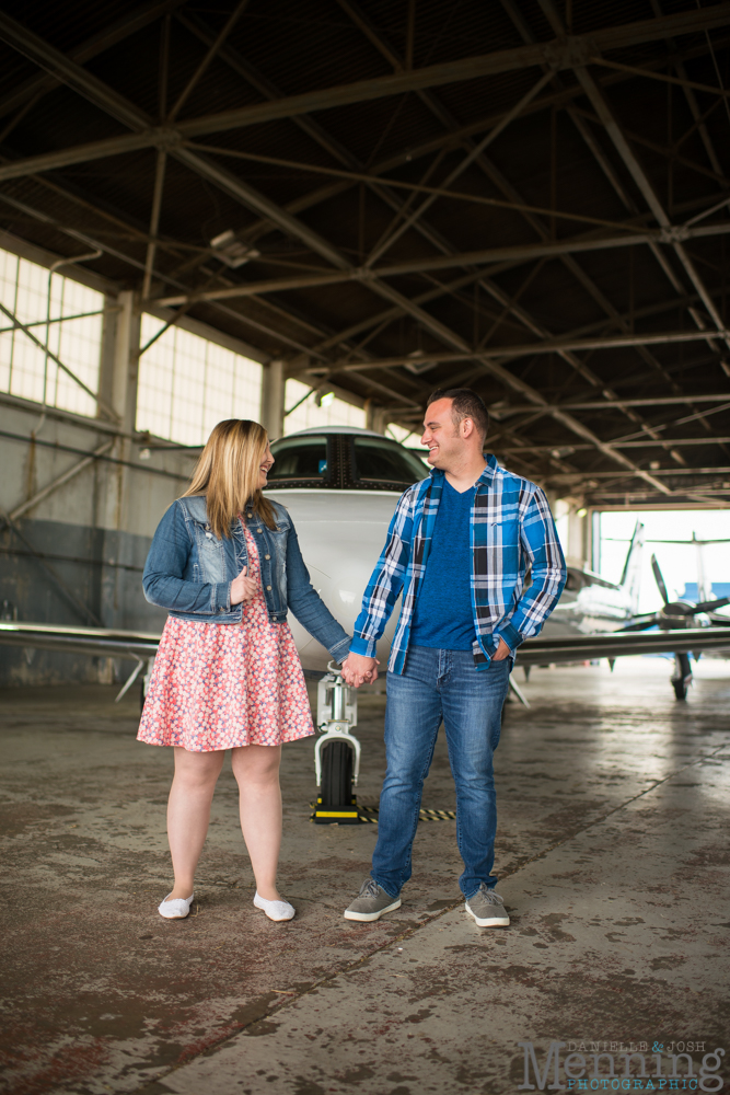 Youngstown airport engagement photos