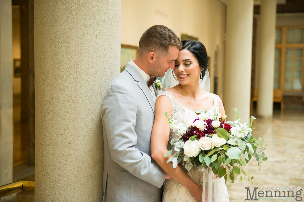 gold and greenery Youngstown wedding