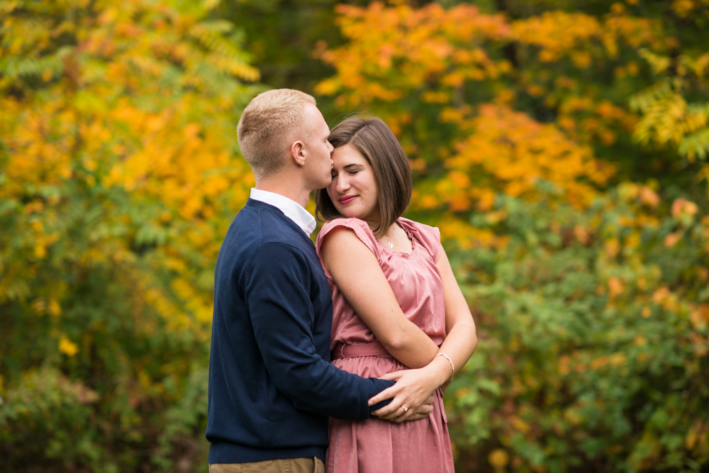 fall apple orchard engagement photos