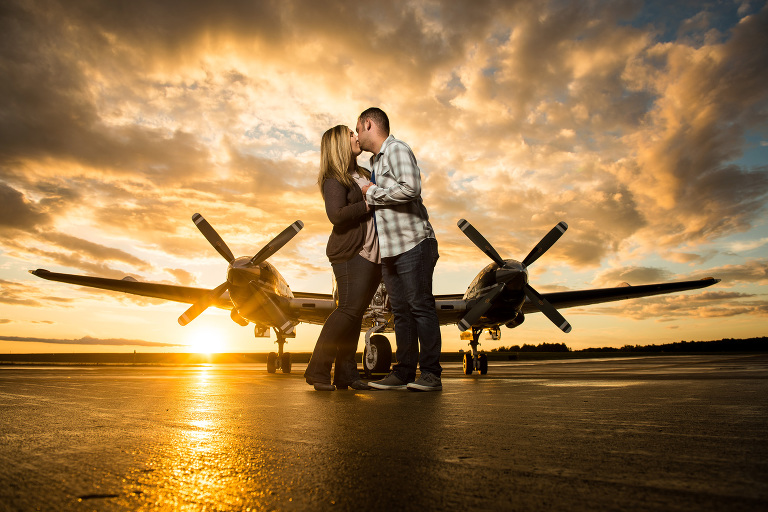 Erica_Andrew_0160 Engagement Session - Airplane - Youngstown, Ohio Photographers