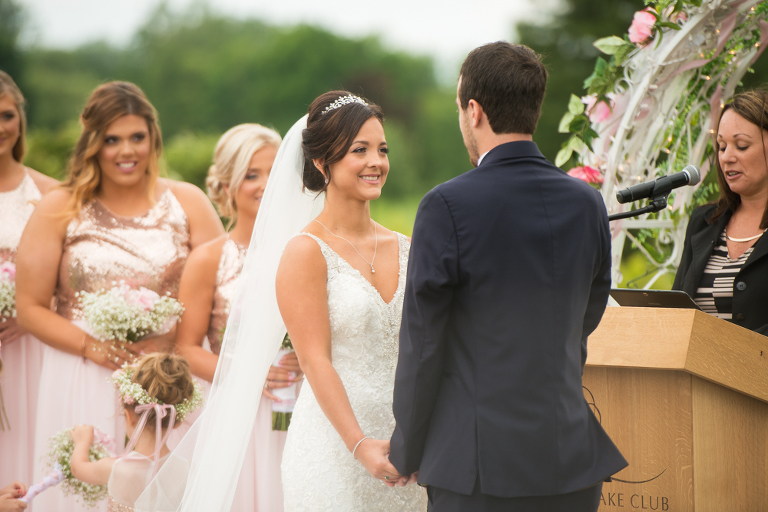 f0d14ec4e11 Blush and Rose Gold Wedding at The Lake Club of Ohio in Poland